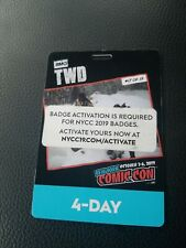 NYCC 2019 4 DAY BADGE Adult New York Comic Con Ticket Pass Activated / Verified