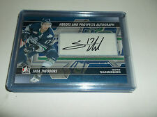 2013-14 HEROES & PROSPECTS shea theodore AUTOGRAPHED ITG A-st CARD IN THE GAME
