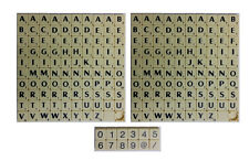 New Scrabble Tiles Ivory Letters 2 Full Sets of 100 Game Pieces + 12 Number Pack