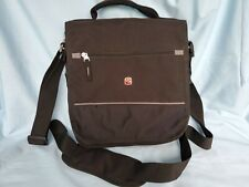WENGER Swiss Army Cross Body Fabric Padded Expandable Laptop Bag With Pockets.