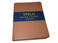 Polo Ralph Lauren Light Brown Leather Big Pony Blank Diary Notebook Journal