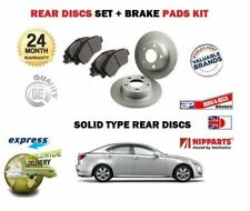 FOR LEXUS IS220D IS250 2005-2010 NEW REAR BRAKE DISC SOLID SET + DISC PADS KIT