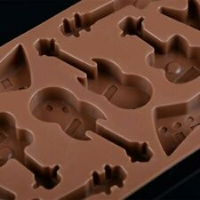 Grade Silicone Material Lovely Guitar Modeling Shape for Chocolate Handmade Mold