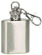 1oz. Stainless Steel Flask Key Chain (Silver)