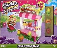 Shopkins Kinstructions  Fruit Veggie Stand  new in box brick building compatable