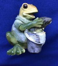 Frog With Fish Figurine