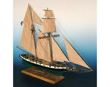 "New, finely detailed wooden model ship kit by Soclaine: ""La Recouvrance"""