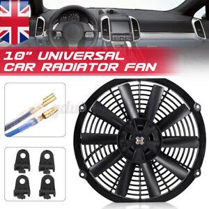 10'' 12V Car Electric Radiator Intercooler Straight Cooling Fan Push Pull 80W