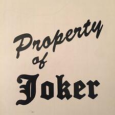 Suicide Squad Harley Quinn PROPERTY OF JOKER DECAL Sticker Joker  Katana Batman