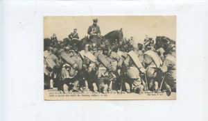 WWI royalty postcard,Emperor of Russia, czar, tsar, France, military soldiers