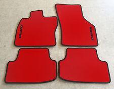 Autoteppiche Fußmatten für Seat Ibiza 6K Cupra rot schwarz 1993-2002' Neu Velour