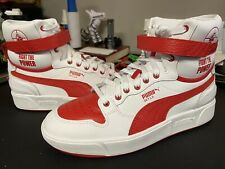 Puma Sky Lx Public Enemy Men's Size 11 White Leather High Top Sneakers 37453801