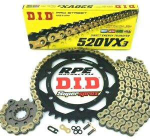 New DID VX3 520 Honda CBR600rr 2003-06 Premium X-Ring Chain and Sprockets Kit