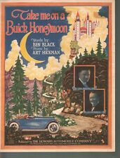 Take Me On A Buick Honeymoon 1922 Howard Automobile Company Sheet Music