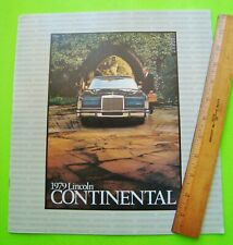 1979 LINCOLN CONTINENTAL HUGE DLX COLOR CATALOG Brochure 20-pgs SPECIAL MODELS