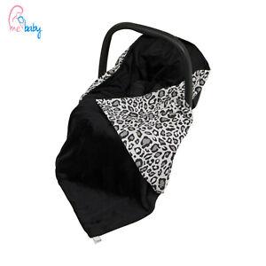 New Baby Car Seat Wrap / Travel Wrap / Blanket - black + black & white panther