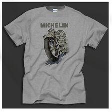 Michelin Pneus Vintage Café Racer Motos Design Rétro Gris Chemise