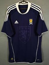 MEN'S ADIDAS SCOTLAND 2010/2011 HOME SOCCER FOOTBALL SHIRT JERSEY MAILLOT SIZE M