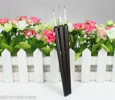 3 Nail Art Pen Brush Painting Drawing Pen Tool Set Hot Sell New Black