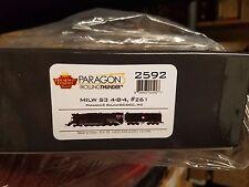 Broadway Limited HO 261 SW3 Milwaukee 4-8-4 Steam Engine Loco Paragon Sound 2592