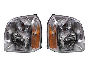 NEW Left & Right Genuine Headlights Headlamps Pair Set For GMC Yukon XL 1500