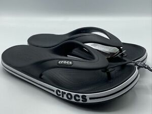Crocs Black Bayaband Flip Men's Size 10 - New with Tags! Black and White