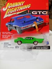 1971 Pontiac Pro Street Drag Car. Metallic Green.Red Line  Johnny L 2001 - GTO's