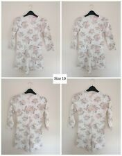 Womens UK 10 Floral Print Playsuit NEW