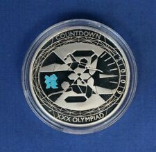 """2009 Silver Proof £5 coin """"Olympic Countdown"""" in Capsule"""