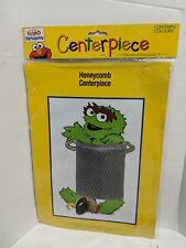 Oscar the Grouch Decoration Centerpiece 1998 Honeycomb Elmo in Grouchland