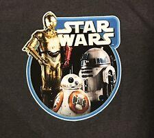 NWT STAR WARS R2-D2 MEN'S T-SHIRT Sz L GRAY
