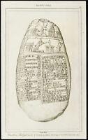 Gravur von 1852: Caillou Michaux (Handschrift Keilschrift) - Babylon