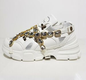 New Women's Shoes Chunky Sneakers Removable Crystal Straps EU 38 / US 7.5 / UK 5