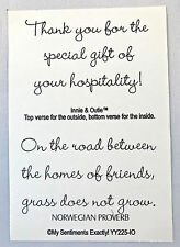 NEW MSE! My Sentiments Exactly! UnMounted Rubber Stamp YY225 Hospitality