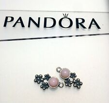 Authentic Retired Pandora Pink Opal Earring charms 925 ALE With Tags 290631POP