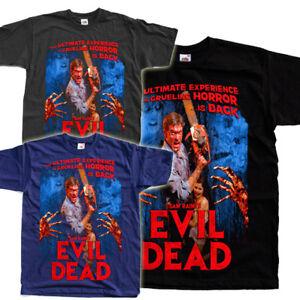 EVIL DEAD V7 Horror Movie Black Graphite Navy T SHIRT ALL SIZES S-5XL