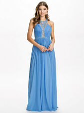 Saffron Maxi Dress with Embellished Plunge Neck by Forever Unique UK 16 RRP £225