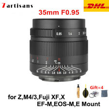 7artisans 35mm F0.95 APS-C MF Manual Focus Lens for Canon Nikon Sony Fuji M4/3