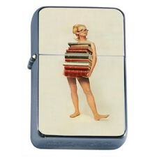 Hot Book Worm Rs1 Flip Top Oil Lighter Wind Resistant With Case