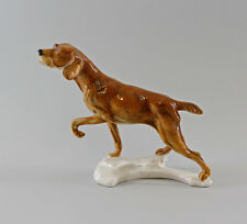 Ens Porzellan Figur Spaniel Jagdhund braun Hund 20x24cm 9997112#