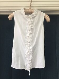 Gorgeous Anne Fontaine Linen Blouse With Lace Up Back.