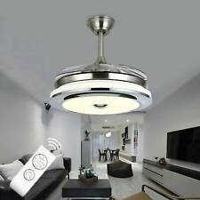 42inch LED Invisible Ceiling Fan Light Dining Room Chandelier Lamp/Remote