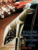 EXHIBITION CULTURAL AUTOMOBILE CAR ROME ITALY VINTAGE ADVERT POSTER 1722PYLV