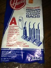 Genuine Hoover Type A Vacuum Bags 4010001A 3 Pack