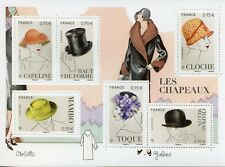 France 2018 MNH Collectors Corner Hats 6v M/S Art Fashion Stamps