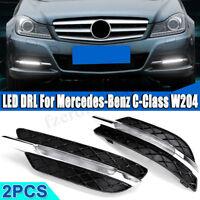 2X LED Running Light DRL Fog Lamp For Mercedes Benz W204 C-Class 2011 2012