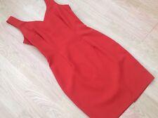 STYLE Incorporated Dress Burnt Orange Sleeveless Sweetheart Neck Pencil UK 10