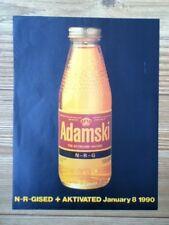 Adamski - N-R-Gised - advert / poster - 30cm x 22.6cm