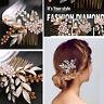 Top Bridal Crystal Hair Comb Hair Clip Pins Wedding PartyFlower Hairwear Jewelry