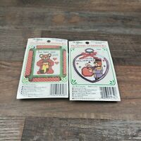 Set Of 2 The New Berlin Co. Counted Cross Stitch Christmas Ornament Kit